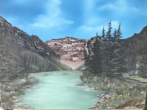Artist's view of Lake Louise