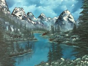 Artist's rendition of Moraine Lake