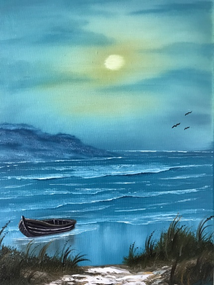 Rowboat On The Beach 24