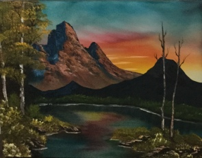 1210 Mountain At Sunset
